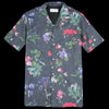 Officine Generale - Japanese Floral Dario Short Sleeve Shirt in Black