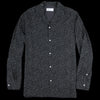 Officine Generale - Italian Cotton Tencel Dot Piping Dario Shirt in Black & White