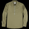 Officine Generale - Light Poplin Paul Zip Overshirt in Olive