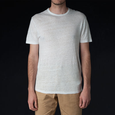 Officine Generale - Pigment Dyed Linen Tee in White