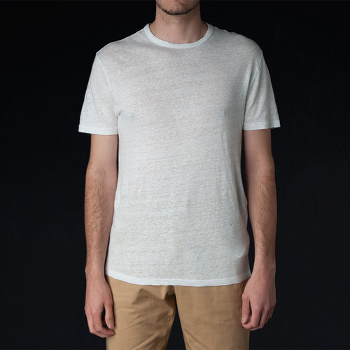 Pigment Dyed Linen Tee in White