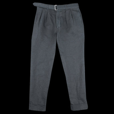 Officine Generale - Garment Dye Italian Cotton Linen Pierre Pant in Graphite