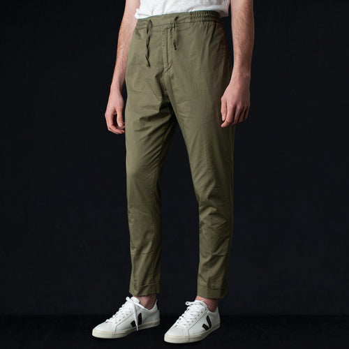 Pigment Dye Italian Cotton Phil Pant in Burnt Olive