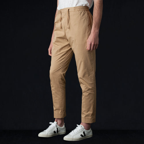 Pigment Dye Italian Cotton Jay Pant in Tan