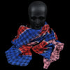 Destin - Rica Artist Quadra Scarf in Blue Red & Pink