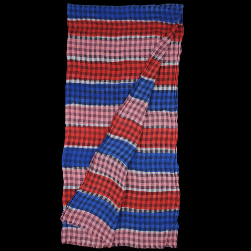 Rica Artist Quadra Scarf in Blue Red & Pink