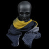 Destin - Rica Sfumato Quadra Scarf in Black & Yellow