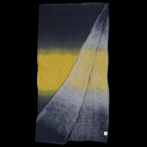 Rica Sfumato Quadra Scarf in Black & Yellow