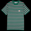 Carhartt WIP - Houston Stripe Pocket Tee in Dragon