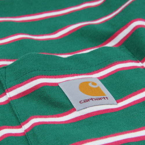 Houston Stripe Pocket Tee in Dragon