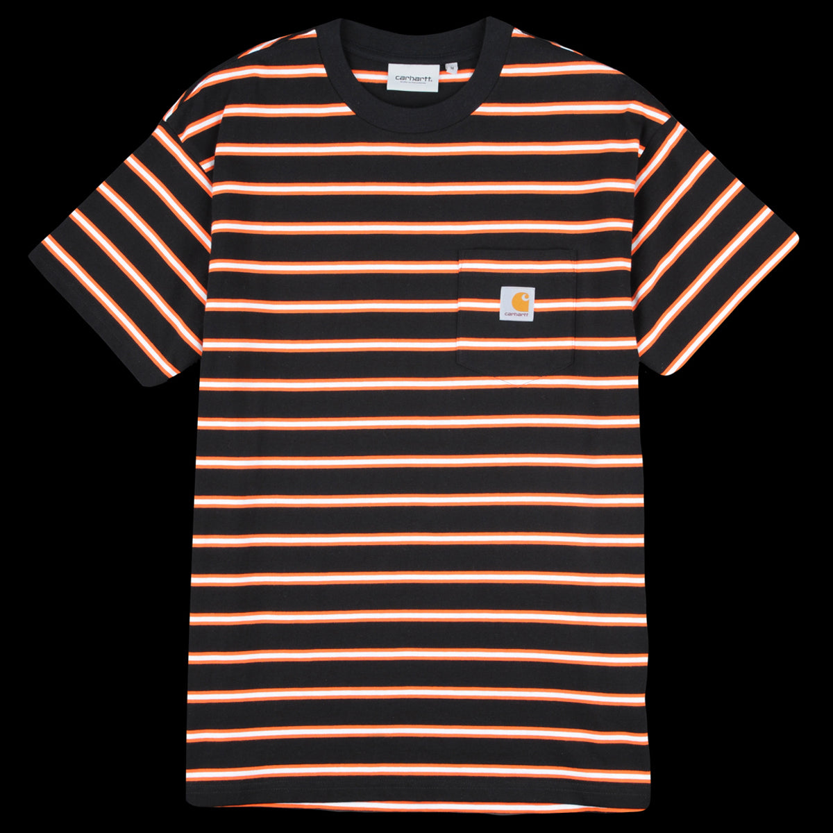 95b6ea8e Carhartt WIP - Houston Stripe Pocket Tee in Black - UNIONMADE
