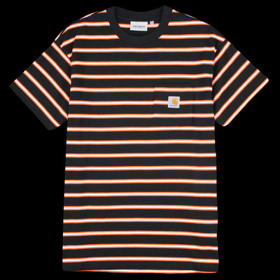 Carhartt WIP - Houston Stripe Pocket Tee in Black