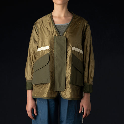 Tropical Flight Jacket in Beige