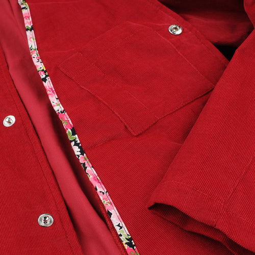 Capitola Coach Jacket in Cranberry