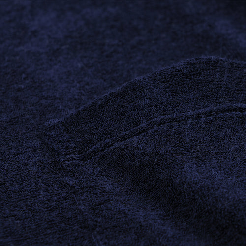 Fons Terry Pocket Tee in Navy