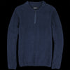Howlin' - Night Moves Bouclé Half-Zip Sweater in Navy