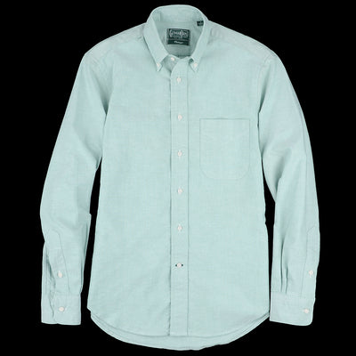 Gitman Vintage - Button Down Shirt in Green Oxford