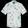 Gitman Vintage - Camp Shirt in Surf & Turf White