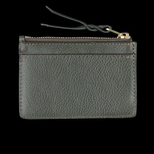 Zipper Credit Card Wallet in Olive