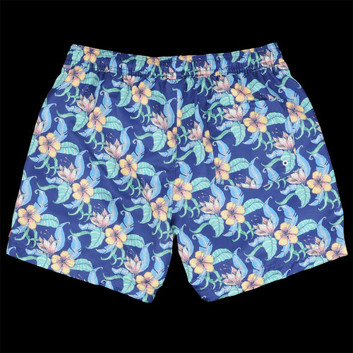Printed Swimshort in Tropical Blue