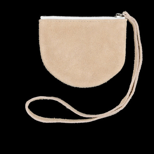 Half Circle Pouch in Beige