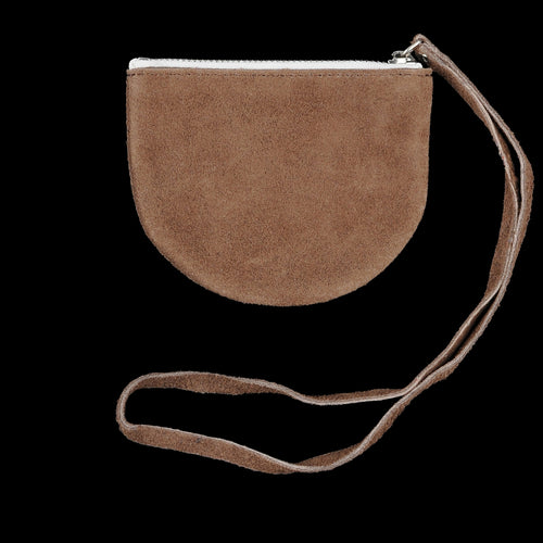 Half Circle Pouch in Dark Brown
