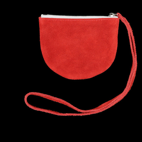 Half Circle Pouch in Red