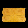 Chamula - Hand Tooled Clutch in Floral Yellow