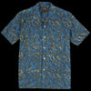 Beams+ - Batik Print Short Sleeve Open Collar Shirt in Blue