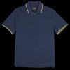 Beams+ - Line V-Neck Polo in Navy
