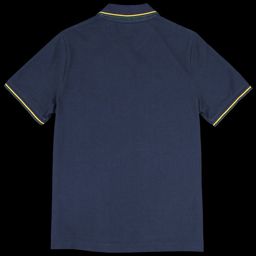 Line V-Neck Polo in Navy