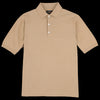 Beams+ - Solid Knit Polo in Khaki