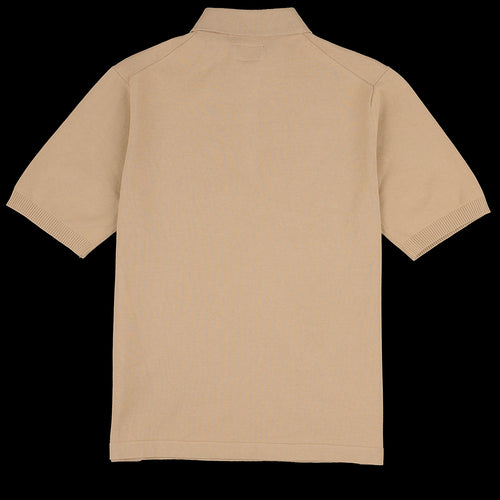 Solid Knit Polo in Khaki