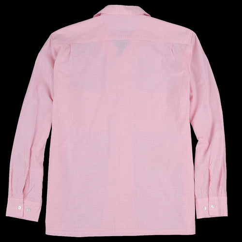 Hairline Check Open Collar Shirt in Pink