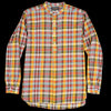 Beams+ - Indian Madras Band Collar Pullover Shirt in Yellow