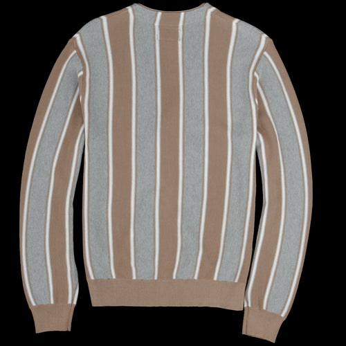 Stripe Cardigan in Brown