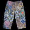 Beams+ - Batik Patchwork-Like Print Wide 8/10 Pant in Navy