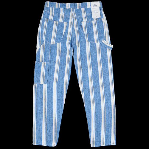 Draft Crop Carpenter in Linen Stripe