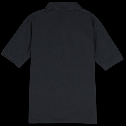 Pique Tennis Shirt in Black