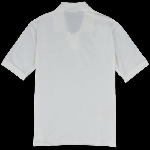 Pique Tennis Shirt in Soft White