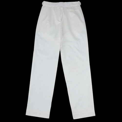 Twill Tennis Trouser in Snow White