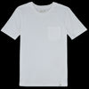 Merz B. Schwanen Good Basics - Crew Neck Tee with Pocket in White