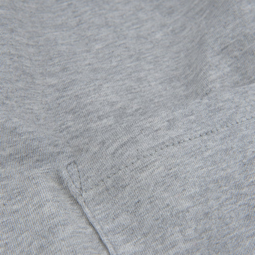 Crew Neck Tee with Pocket in Grey Melange