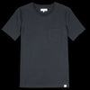 Merz B. Schwanen Good Basics - Crew Neck Tee with Pocket in Deep Black