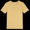 Merz B. Schwanen Good Basics - Crew Neck Tee with Pocket in Corn
