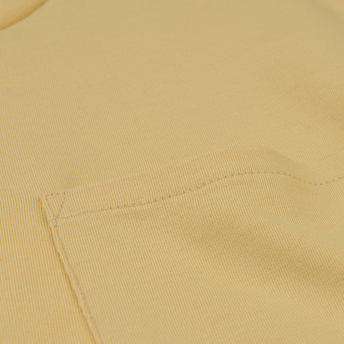 Crew Neck Tee with Pocket in Corn