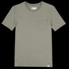 Merz B. Schwanen Good Basics - Crew Neck Tee with Pocket in Army