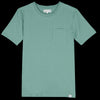Merz B. Schwanen Good Basics - Crew Neck Tee with Pocket in Grass