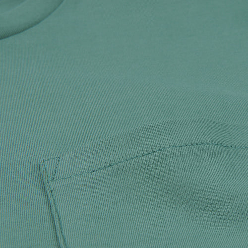 Crew Neck Tee with Pocket in Grass