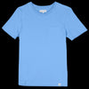 Merz B. Schwanen Good Basics - Crew Neck Tee with Pocket in Sky